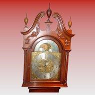 Finest Elliott W & H quartered oak tall case grandfather clock