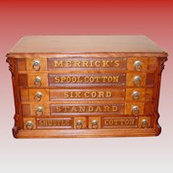 Merrick 6 drawer spool thread cabinet---4 over 2 drawers