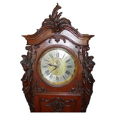 Excellent Austrian Art Nouveau tall case grandfather clock