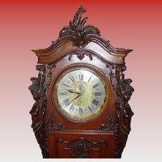 Excellent Austrian Art Nouveau tall case grandfather clock
