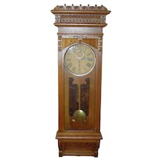 Gilbert quartered oak wall clock Regulator No. 10