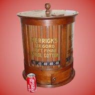Neat round cylinder Merrick's spool thread cabinet
