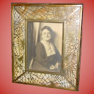 Tiffany Studios pine needle picture frame-excellent