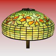 Tiffany Studios table lamp-Swirling Leaf w bronze base