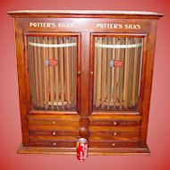 Rare Potter's spool thread cabinet-2 cylinders