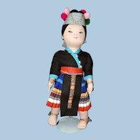 Vintage Thailand Hilltribe Girl Doll by Mrs Chandavimol