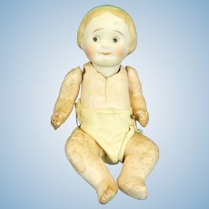 Nippon, Bisque Googly Baby Doll, Molded Hairband