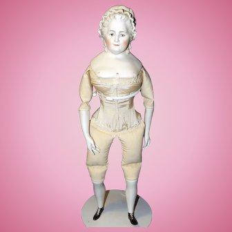 Emma Clear Martha Washington, Untinted Bisque Doll
