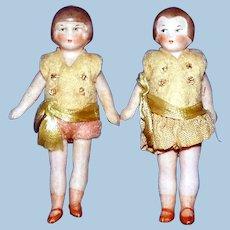 All Bisque Flapper Boy & Girl Dolls