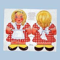 Coco Wheats Advertising doll, Cut & Sew Panel