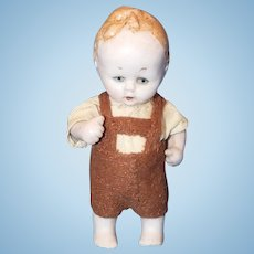 Hertwig All Bisque Character Boy Doll