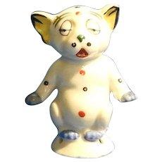 Bonzo the Dog China Half Doll, German Novelty
