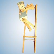 Wooden Palmer Cox Brownie Acrobat Doll, Toy