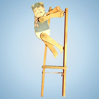 Wooden Palmer Cox Brownie Acrobat Doll, Toy