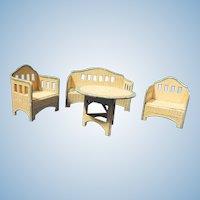 4 Piece KORBI Garden set, Schreiter miniature doll furniture