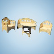 4 Piece KORBI Garden set, Schrieter miniature doll furniture
