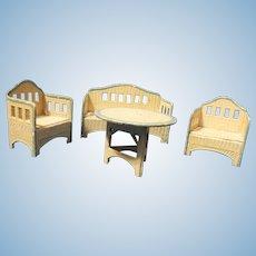 4 Piece KORBI Garden set, Schrieter miniature doll furniture