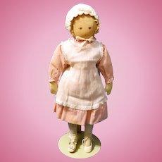 Polly Heckewelder ,1930s Era Moravian Rag Doll