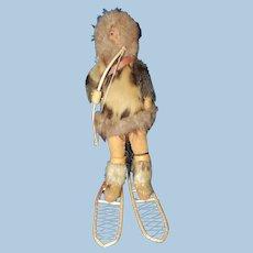 Alaskan Native American Artist Doll by Eva Heffle