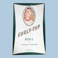 DeJournette Curly-Top Paper Doll set, mostly uncut
