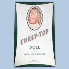 DeJournette Curly-Top Paper Doll set, mostly uncut