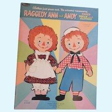 Vintage Whitman Raggedy Ann & Andy Paper Dolls, Uncut