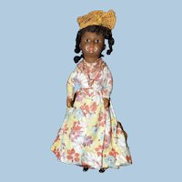 Cabinet Sized Black French West Indies Costume Doll, SFBJ