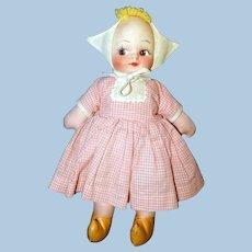 Cloth Mask Face Dutch Girl Doll