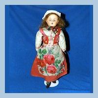 Minerva Celluloid Doll in World Costume