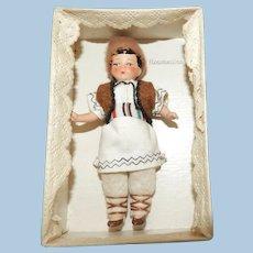 Antique German Hertwig Painted Bisque International Boy