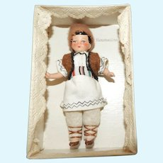 Antique German Hertwig Painted Bisque International Boy