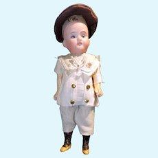 German Socket-Head Boy in Original Sailor Costume