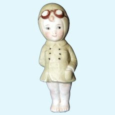 Antique All – Bisque Child Aviator