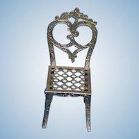 Simon et Rivollet Miniature French Metal Chair