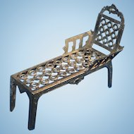 Simon et Rivollet Miniature French Metal Chaise