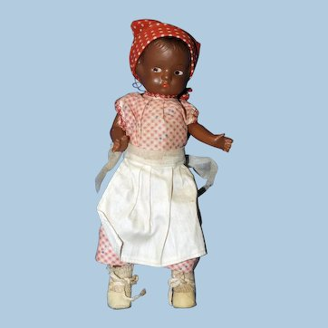 Black Composition Patsy-type Mammy Doll, All Original