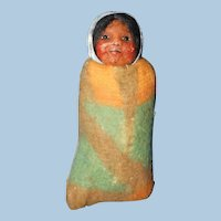 Mary Frances Woods Skookum Papoose, Crepe Paper Doll
