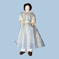 """Antique Cabinet sized French style Papier Mache, """"Pauline"""" Doll"""
