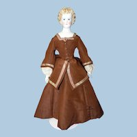 Beautiful Antique Countess Dagmar style Untinted Bisque Doll