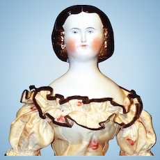Antique German China Doll, Mary Todd Lincoln
