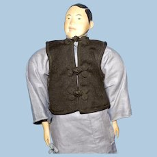 Door of Hope Mission Doll, Wooden, Man in Cotton