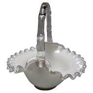 """Fenton Silver Crest 7"""" Basket"""