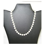 Monet Cream Colored Beaded Necklace