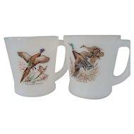 Two Fire King Game Bird Mugs