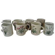 Set of 8 Woodbine Meadows Mugs - Certified International