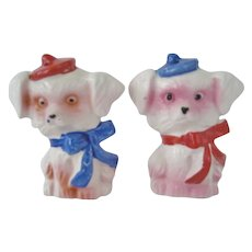 Poodle Dog Salt and Pepper Shakers - Japan