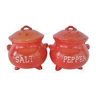 Orange Kettle Shaped Salt and Pepper Shakers - Lego