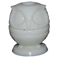 Fenton Shiny Custard Owl Fairy Light
