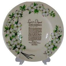 "Syracuse China ""Legend of Dogwood"" Plate"