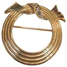 Avon Gold-tone Circle Pin